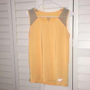 nike dri-fit orange yellow grey top